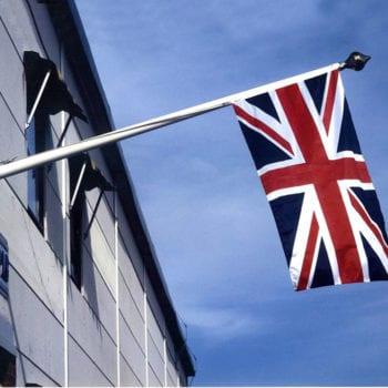 Angled Flagpoles