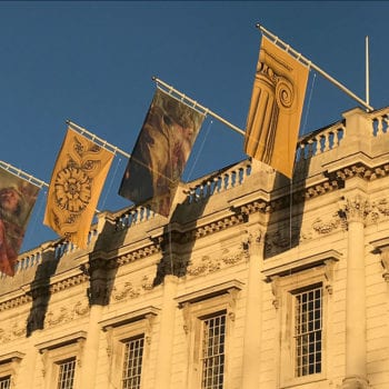 IEP printed flags Banqueting House