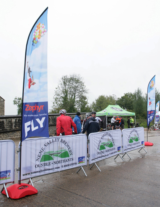 Zephyr can provide banners for your Crowd Barrier, branded