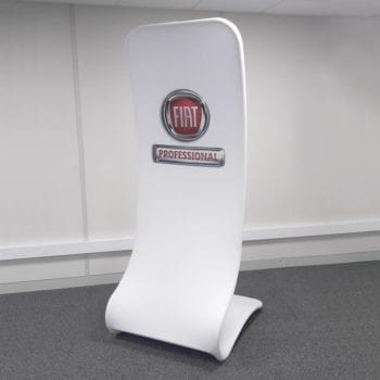 Cobra Fabric Display Stand