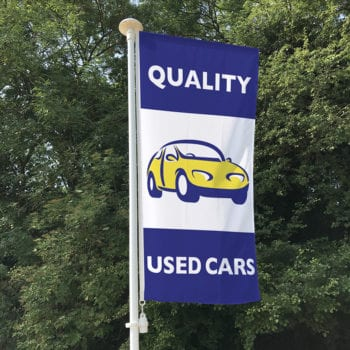 Quality Used Cars (blue) Flag