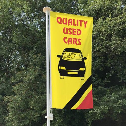 Quality Used Car Portrait Flag