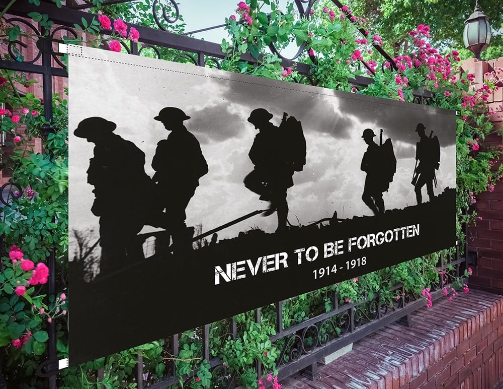 ww1 commemorative banner